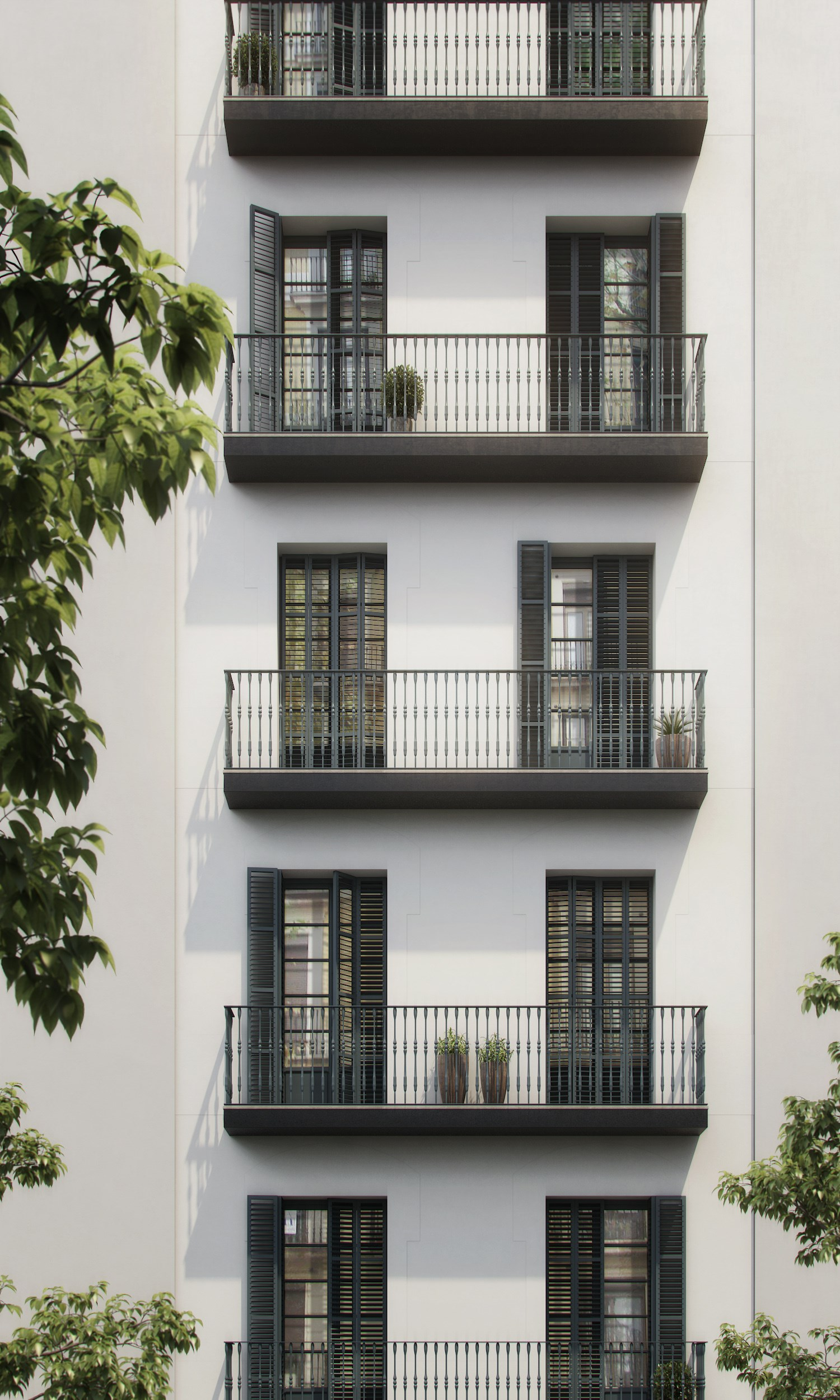 3D RENDERS OF AN APARTMENT IN BARCELONA