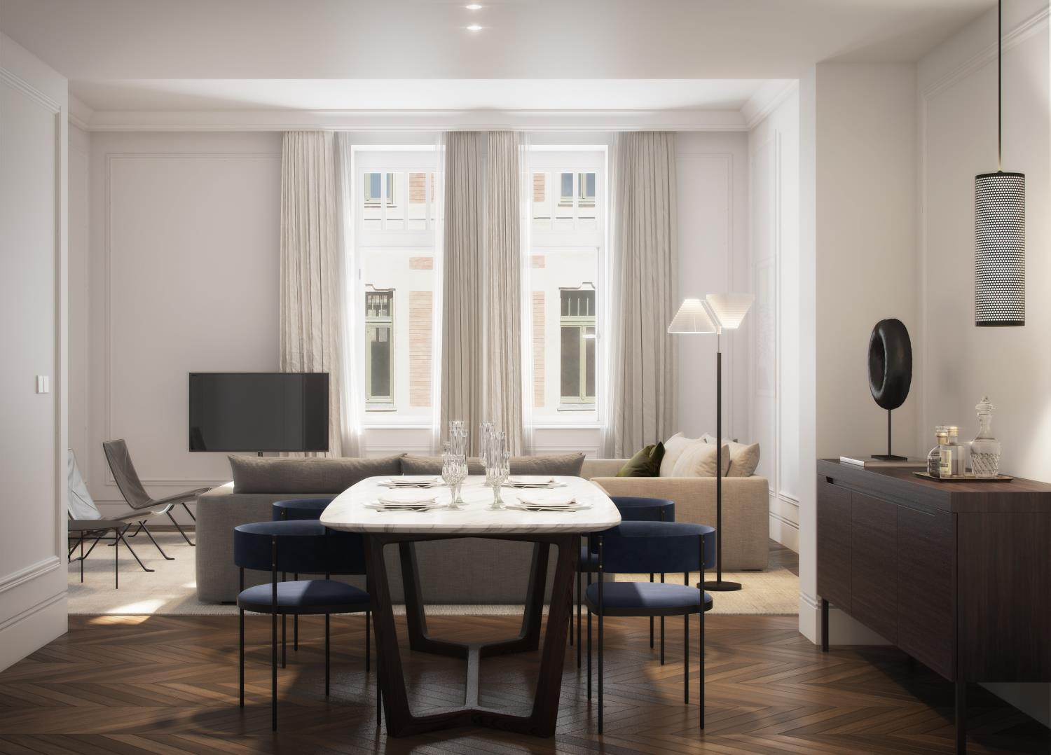 3D INFOGRAPHICS FOR A HOTEL SUITE IN BUDAPEST